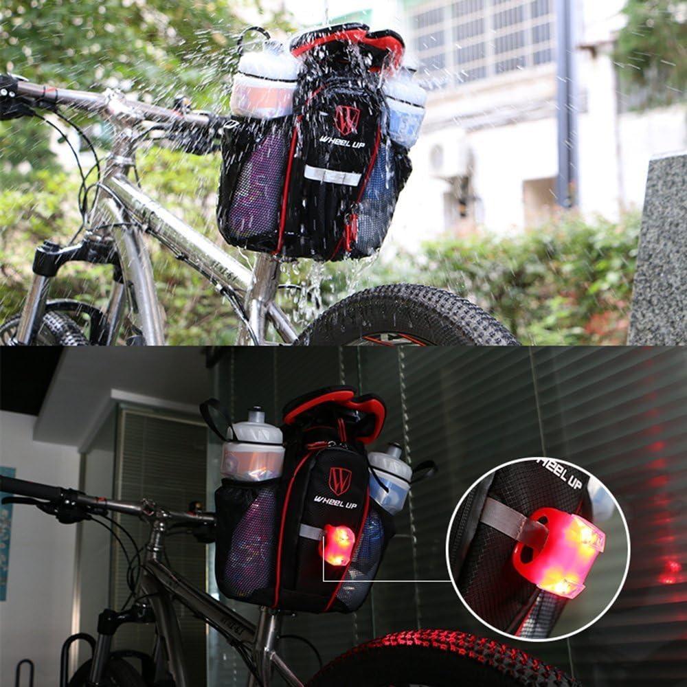 Bicycle Storage Saddle Tail Bag Bike Seat Cycling Rear Pouch w//Reflective Strip