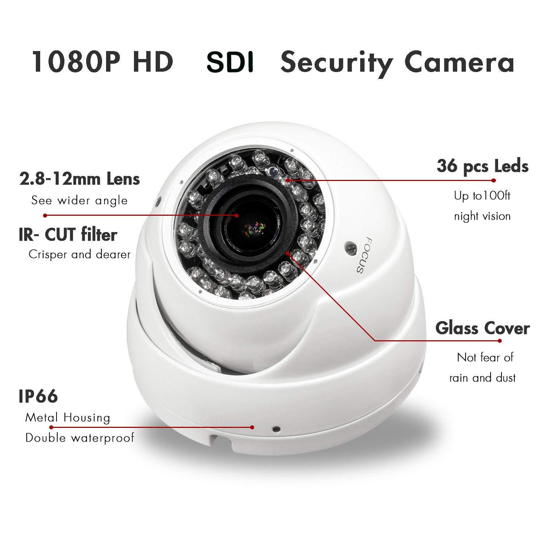 CCTV 1//2.8 Panasonic 2MP Full 1080P Lens 2.8-12mm Vandal Proof HD SDI IR Camera