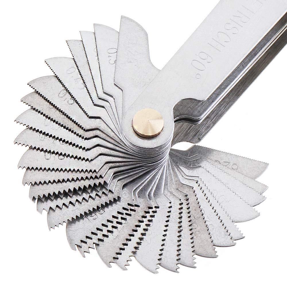 58pcs//set Screw Gauge Whitworth 55 Degree Metrisch 60 Degree Thread Pi SE