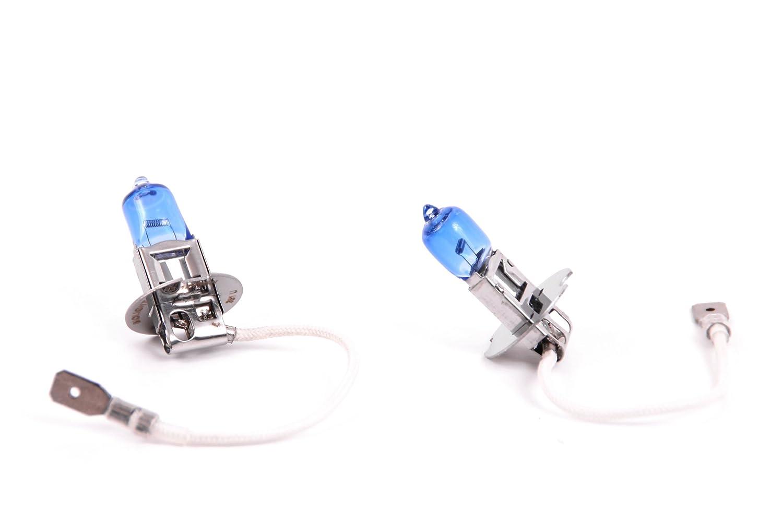 Halogen Birne Seitronic/® 2x H3 55W Xenon Style Lampen f/ür Nebelscheinwerfer Xenon Look
