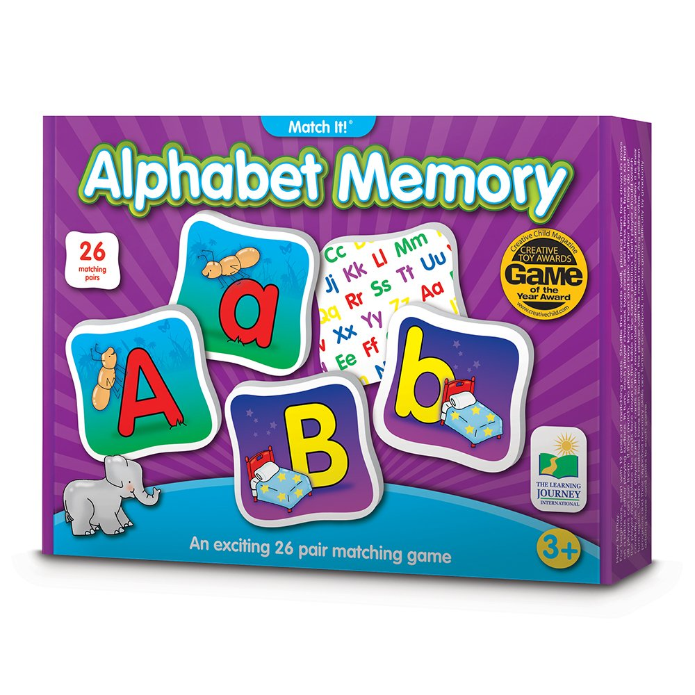 The Learning Journey Match It! Memory - Alphabet - Capital and Lowercase Letter Matching Game with 26 Matching Pairs