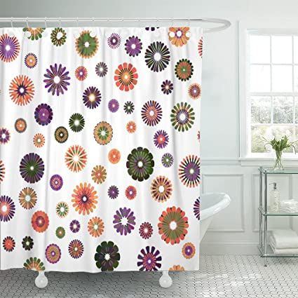 Image Unavailable Not Available For Color Emvency Shower Curtain Yellow Orange Green