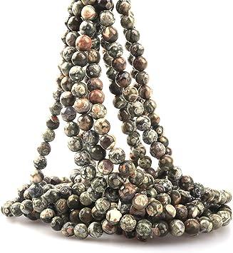 Jasper Round Beads 8mm Yellow//Green 45 Pcs Gemstones Jewellery Making Crafts