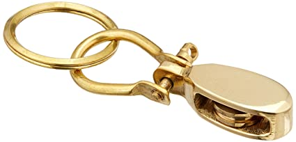 Fob Keyring Fully Working Brass Ships Bosun Whistle Keychain BRAND NEW