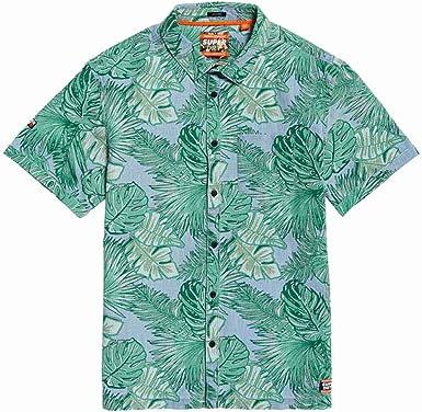 Superdry Seattle Skate Camisa Hombre Tropical Leaf Indigo XXL: Amazon.es: Ropa y accesorios