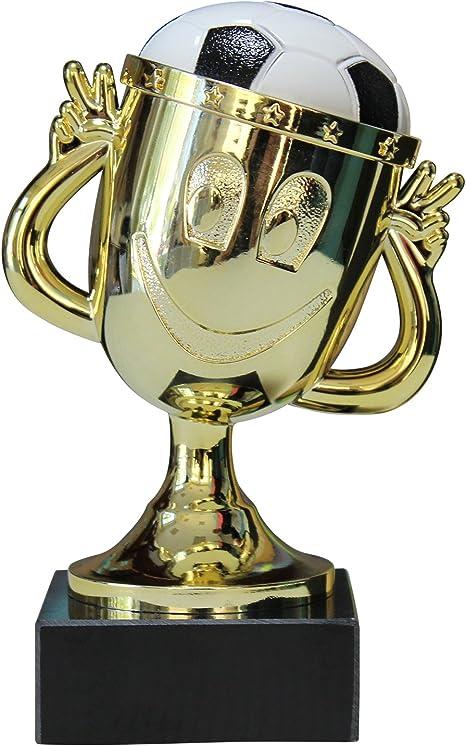 Copa - Balón de fútbol infantil Smiley Oro 12 cm de alto: Amazon ...