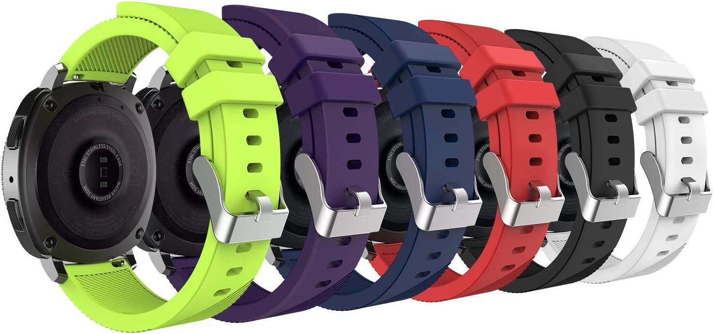 MoKo Correas Samsung Gear S2 Classic, 20 mm Pulsera Gear Sport, Banda Silicona para Samsung Gear Sport SM-R600 / Gear S2 Classic Smartwatch, 6PCS en Cada Paquete, Multicolores