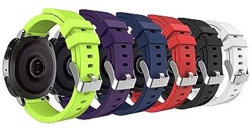 MoKo Correas Samsung Gear S2 Classic, 20 mm Pulsera Gear Sport, Banda Silicona para Samsung Gear Sport SM-R600 / Gear S2 Classic Smartwatch, 6PCS en ...