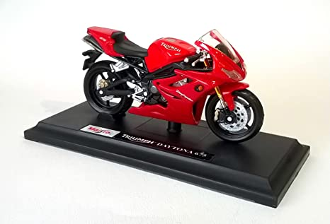 Maisto Triumph Daytona 675 Red Motorcycle Die Cast Model Scale 118