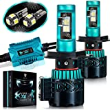 LED Headlight Bulbs Conversion Kit - H4(9003) CREE XHP50 Chip 12000 Lumen /Pair 6K Extremely Bright 68w Cool White 6500K For Bright & Greater Visibility 2 Year Warranty by Glowteck