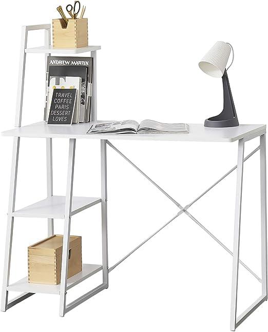 en.casa] Mesa Escritorio Aalborg Escritorio de Ordenador 117 x 102 ...