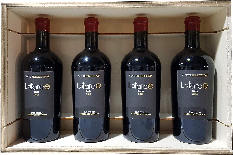 Caja Madera 4 Botellas Vino Latarce Selección 2014 | Vino Tinto ...