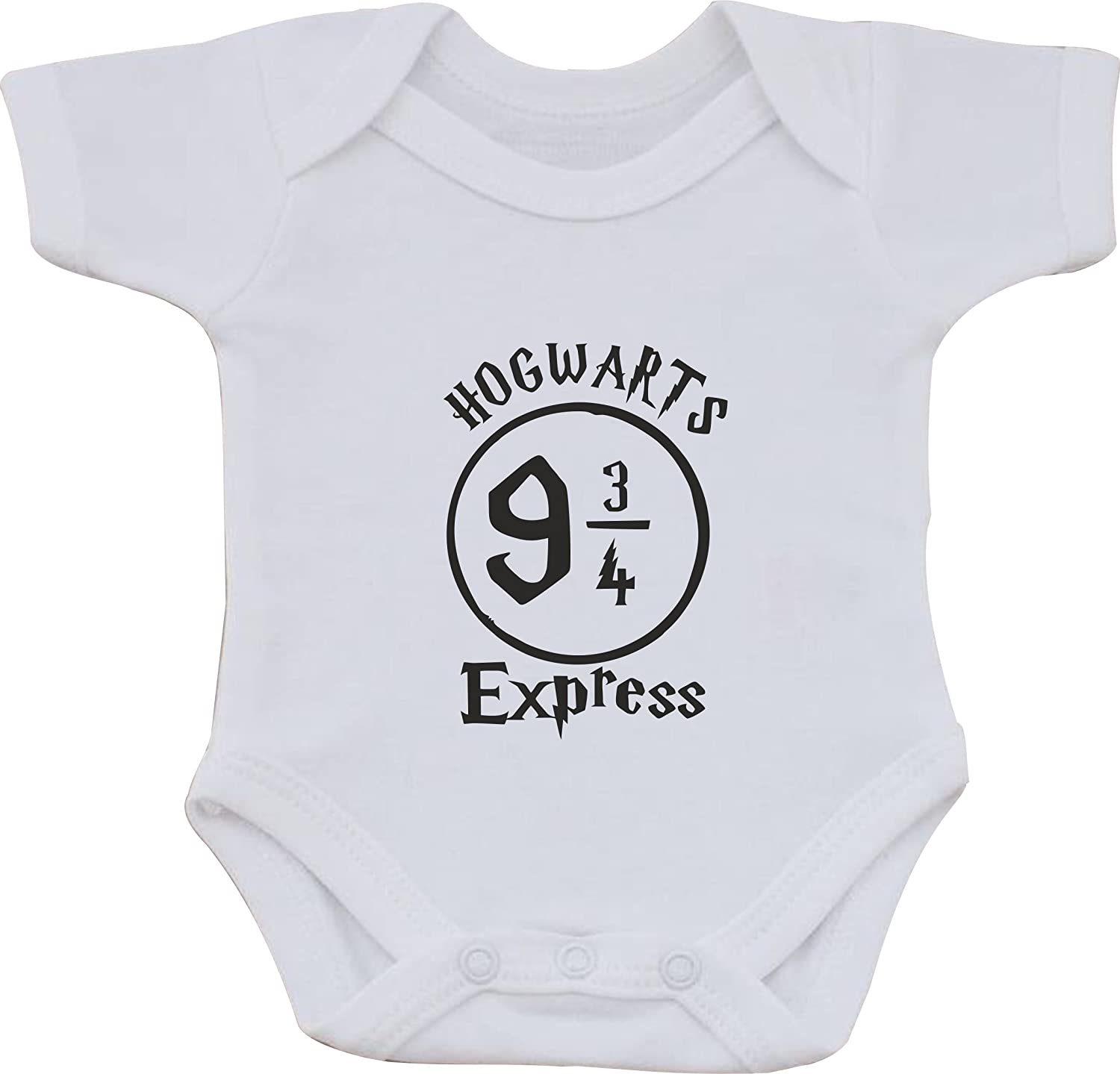 magic moments Hogwarts 9 3/4 Express Harry Potter Funny Humour Cotton White Baby Vest OR Bib