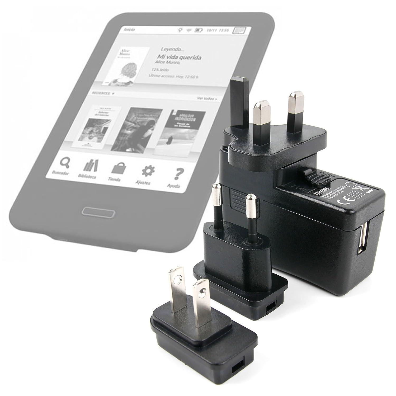 DURAGADGET Kit De Adaptadores con Cargador para Libro electronico ...