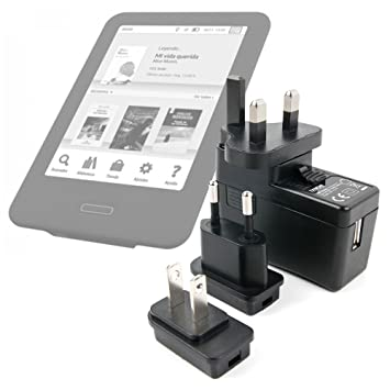 DURAGADGET Kit De Adaptadores con Cargador para eReader Energy ...