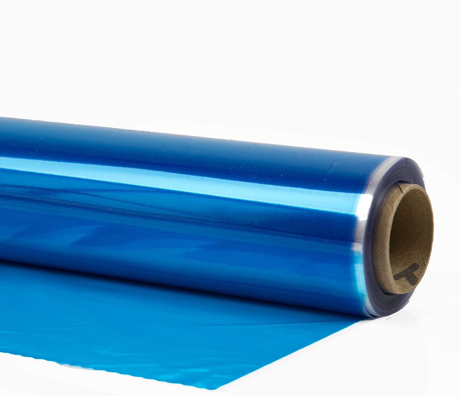 """Cellophane Wrap (Blue, 24"""" x 100') Blue Mylar Sheet Cellophane Roll Great Wrapping Paper for Craft Basket"""