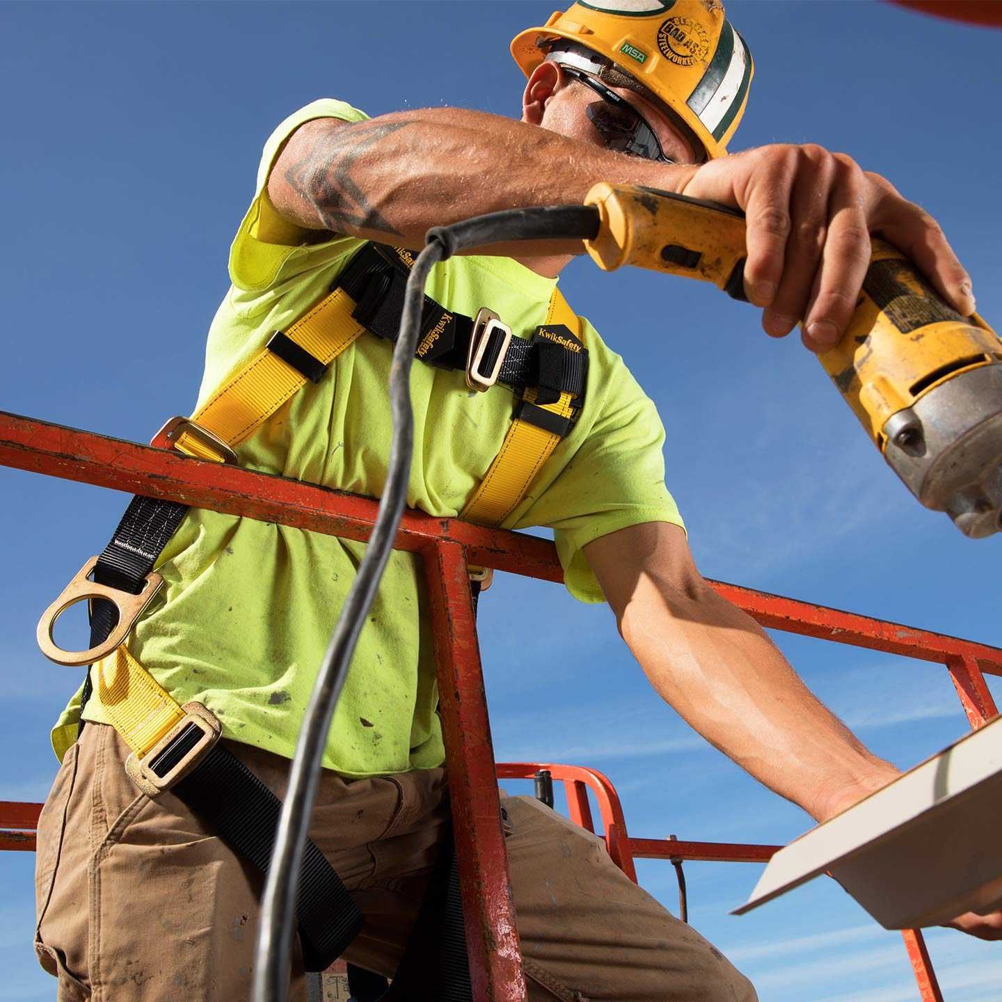 KwikSafety (Charlotte, NC) THUNDER KIT | 3D Full Body Safety Harness, 6' Lanyard, Tool Lanyard, 3' Cross Arm Strap Anchor ANSI OSHA PPE Fall Protection Arrest Restraint Construction Roofing Bucket by KwikSafety (Image #8)