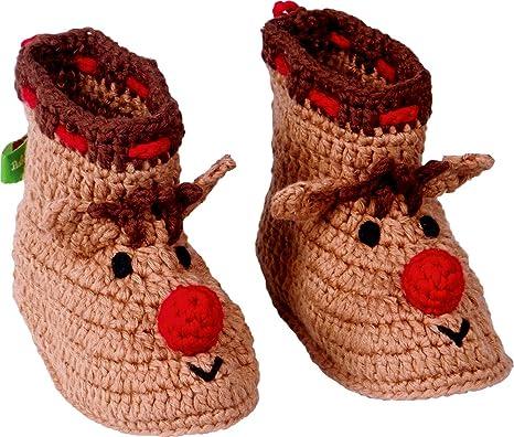 Bébé Bottillons Bébé Crochet Série De Noël Glück Rouge OFysc86