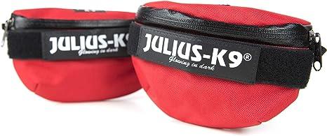Julius-K9 IDC Universal Bolsas Laterales, Tamaño: Mini to 4, Rojo ...