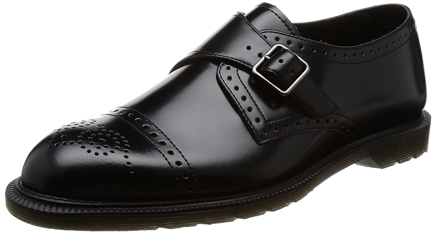 Dr. Martens Cobden Black Polished Smooth, Zapatos de Cordones Brogue para Hombre