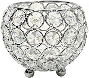 VINCIGANT Silver Crystal Bowl Candle Holders for Aromatherapy, Weddings, Party Favors Valentines Day Table Centerpieces