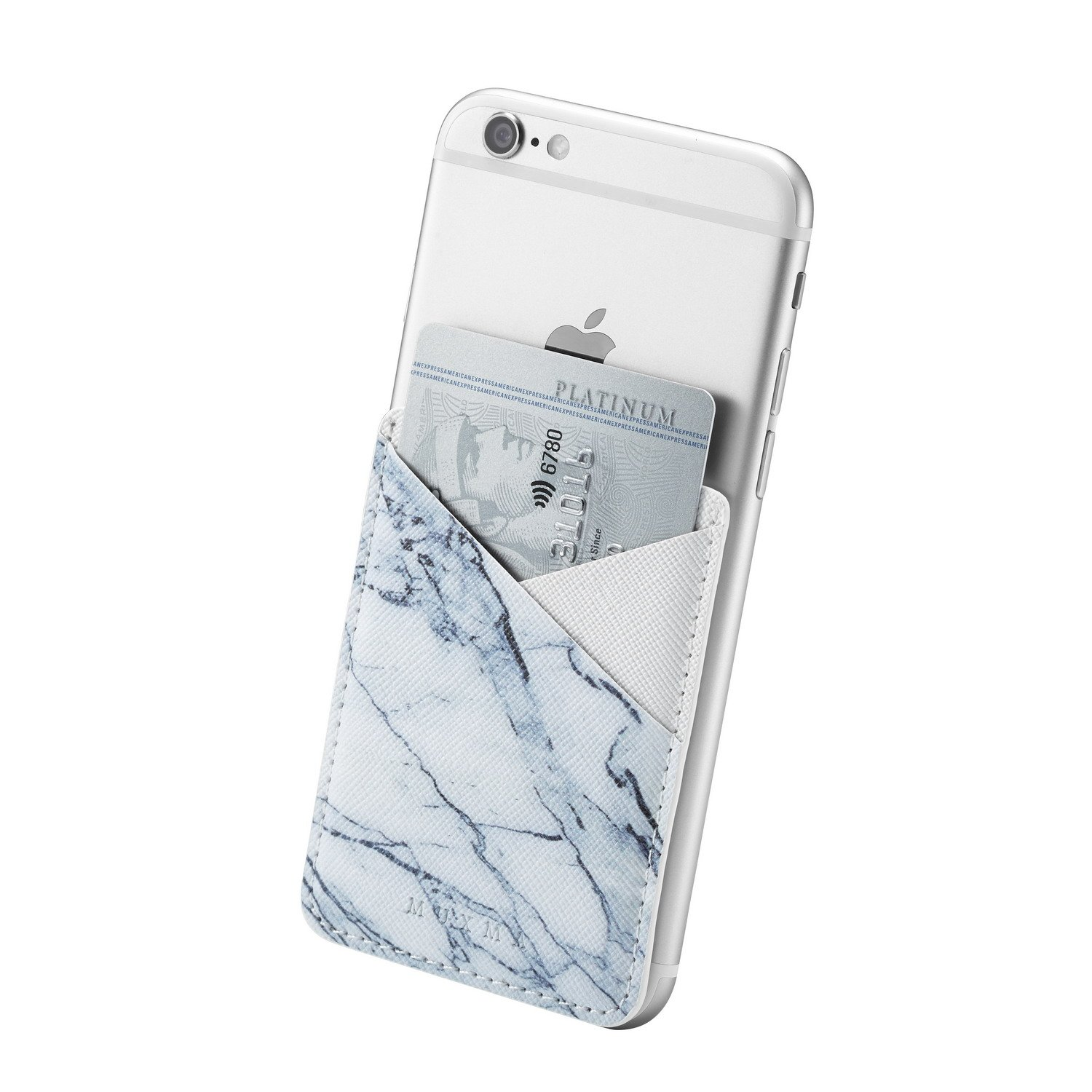 (Three) Stretchy Marble Cell Phone Stick On Wallet Card Holder Phone Pocket iPhone, Android All Smartphones (Marble Pattern) by Heast (Image #7)