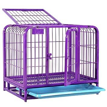 Jaula Plegable Cajón de 2 puertas con bandeja de metal no masticable Portador de mascotas de