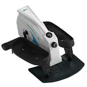 Under Desk Elliptical Stepper - Best Portable Trainer - Compact Strider – Seated Elliptical – Foot Stepper – White Strider Machine – Office gym – Perfect Trainer for Women