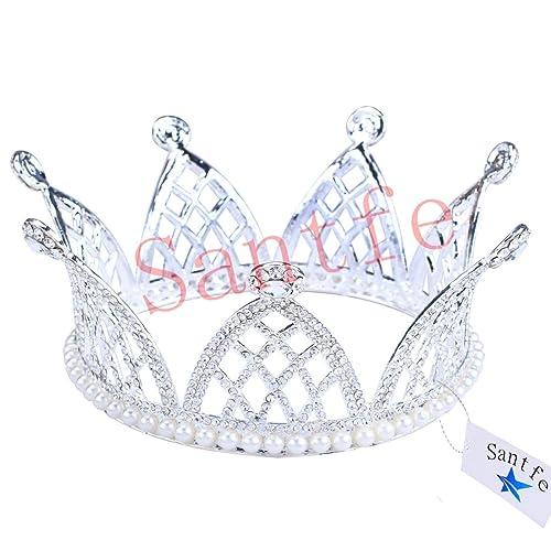 nessuna tassa di vendita nuovo arriva scegli l'autorizzazione santfe diadema lussuosa Corona Strass matrimonio diadema di ...