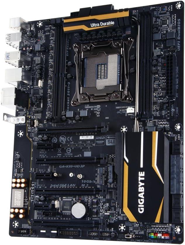 Gigabyte LGA 2011-3 X99 4 Memory DIMMs 4 Way SLI Support ATX DDR4 2133 Motherboard GA-X99-UD3P
