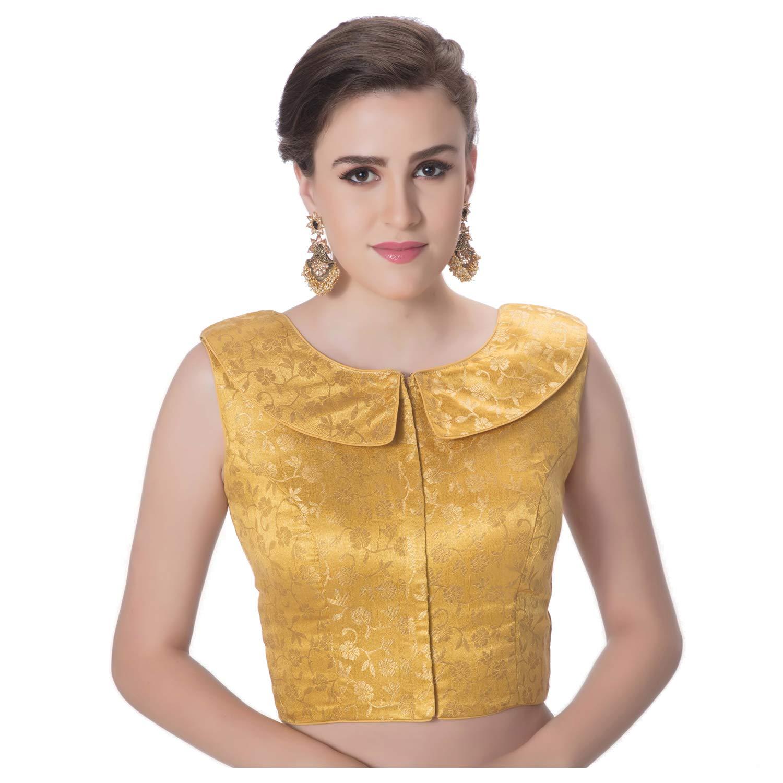 27e2fba18e32b rinkoo womens brocade designer petar pan collar neck princess cut padded  sleeveless front full zipper readymade