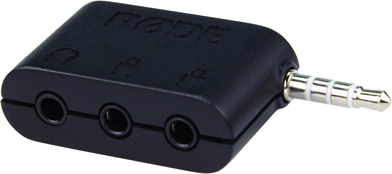 Black R/ØDE SC6 iPhone Accessory