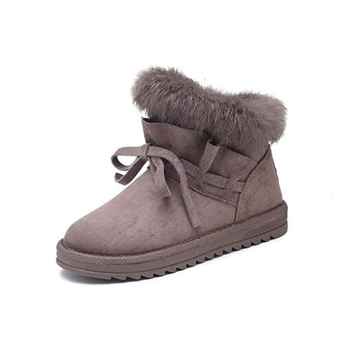 Amazon.com | Women Fashion Boots Fox Hair Botas Feminina Zapatillas Mujer Shoes Woman Sneakers Vintage Boots | Ankle & Bootie