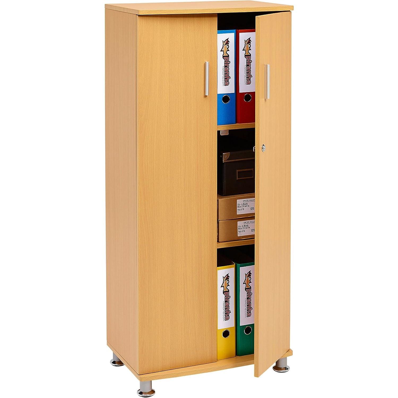Armario alto con 3 estantes de almacenamiento archivador armario a ...