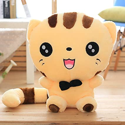 JEWH Cute cat Plush Toys - Stuffed Animals Colorful Big face - cat Doll Kids Pillow