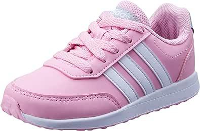 adidas Kids VS Switch 2 Trainers, True Pink/White/Grey, 10.5 US