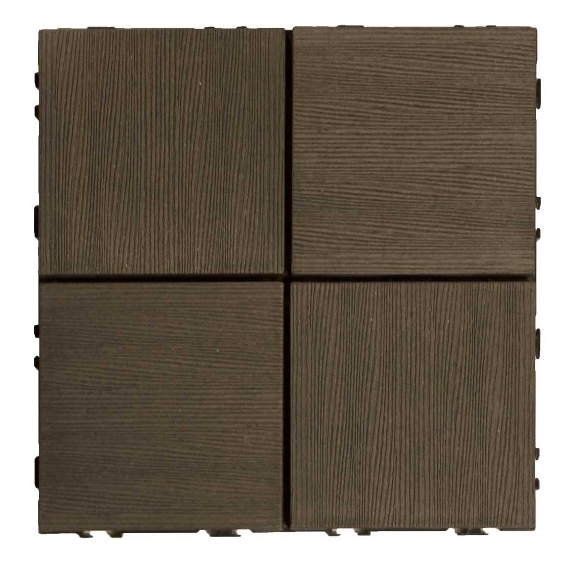 タンスのゲン ウッドパネル 樹脂 81枚セット 7.3平米用 ジョイント式 30×30cm 正方形 Cタイプ:ブラウン AM000088 05 B06ZY242Y3 29500 81枚セット|ブラウン(Cタイプ) ブラウン(Cタイプ) 81枚セット