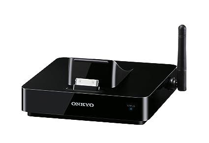 ONKYO DS-A5 - Puerto de transmisión de audio inalámbrica para iPod/iPhone/