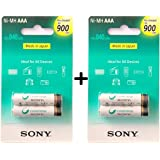 Sony AAA Cycle Energy 900 mAh Rechargeable Batteries- Pack of 4