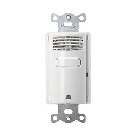 Hubbell AU2001W1 Auto/Off Vacancy Sensor Wall Switch, 120/277V ...