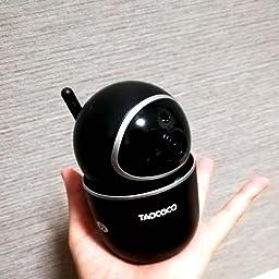 Amazon Co Jp Taococo 1080p 防犯カメラ ネットワークカメラ Wifi対応 ワイヤレスカメラ 遠隔監視 暗視機能 動体検知 P2p対応 スマホ パソコン対応 双方向音声 ベビーカメラ お部屋の防犯対策 日本語説明書付き ブラック カメラ
