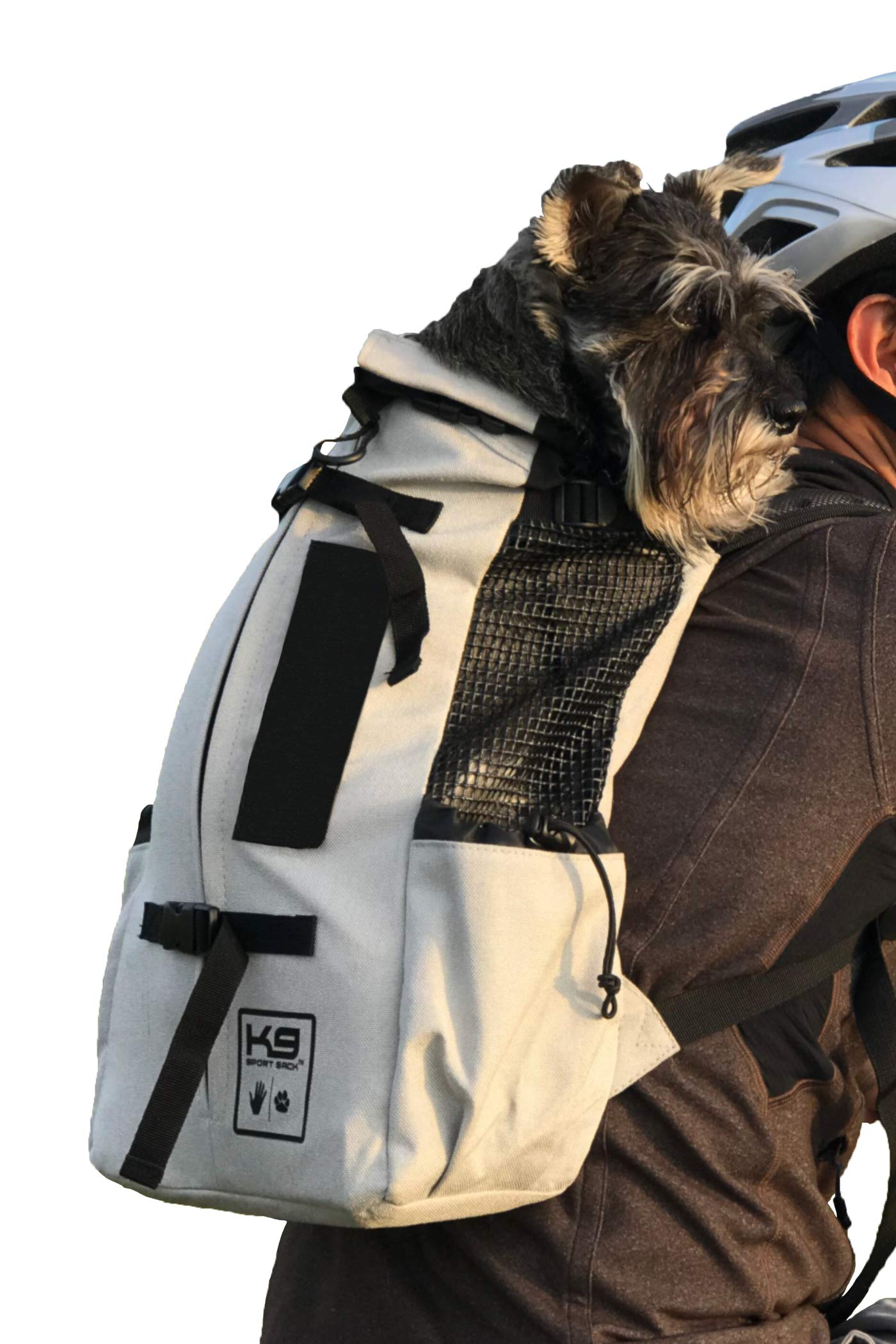 K9 Sport Sack | Dog Carrier Backpack for Small and Medium Pets | Front Facing Adjustable Pack with Storage Bag | Fully Ventilated | Veterinarian Approved (Medium, Air - Charcoal Grey) by K9 Sport Sack
