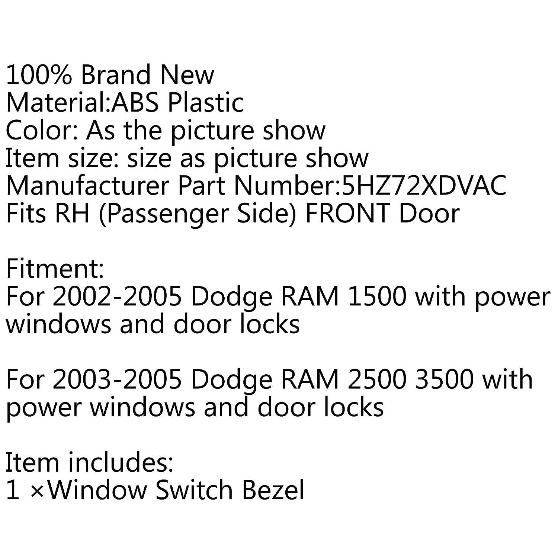 Areyourshop per Dod-ge Ram colore grigio lunetta per porta anteriore e serratura con interruttore lato destro