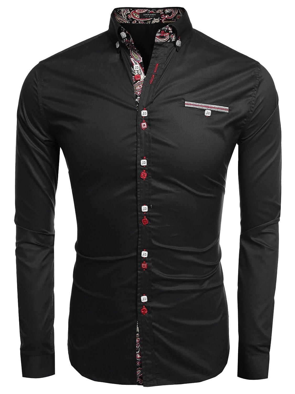 Coofandy Mens Fashion Slim Fit Dress Shirt Casual Shirt At Amazon