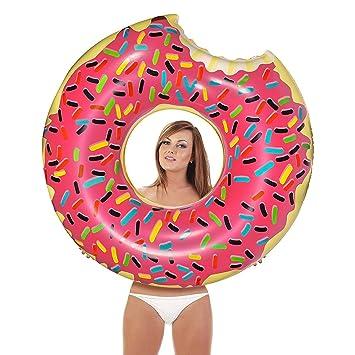 Amazon.com: Flotador inflable de dona gigante para piscina ...