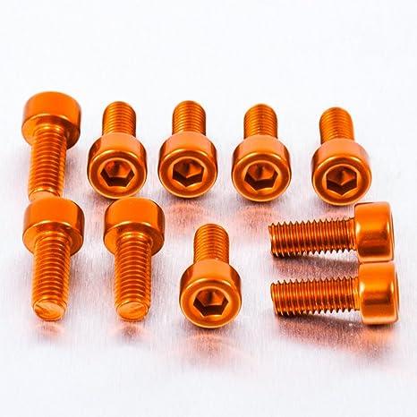 0.8mm Alu Inbus Schrauben M5 x x 30mm Paket x 10 Schwarz