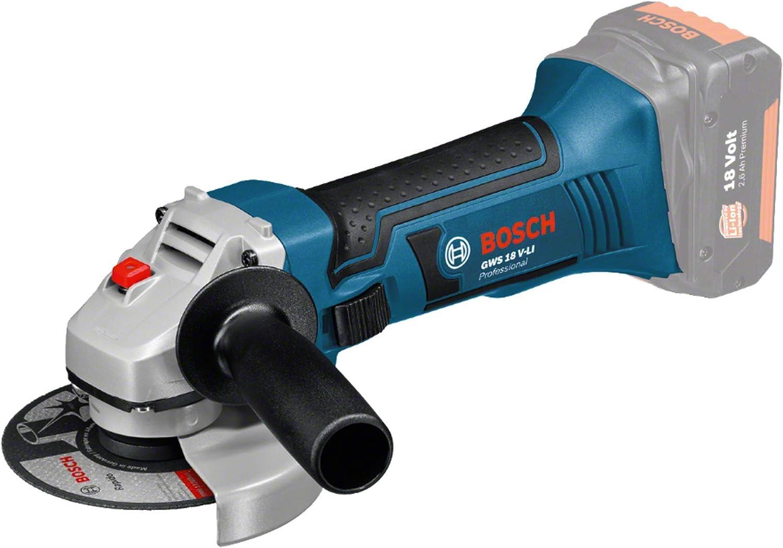 Bosch Professional GWS 18 V-LI Amoladora angular, 2300 g, sin batería, sin cargador