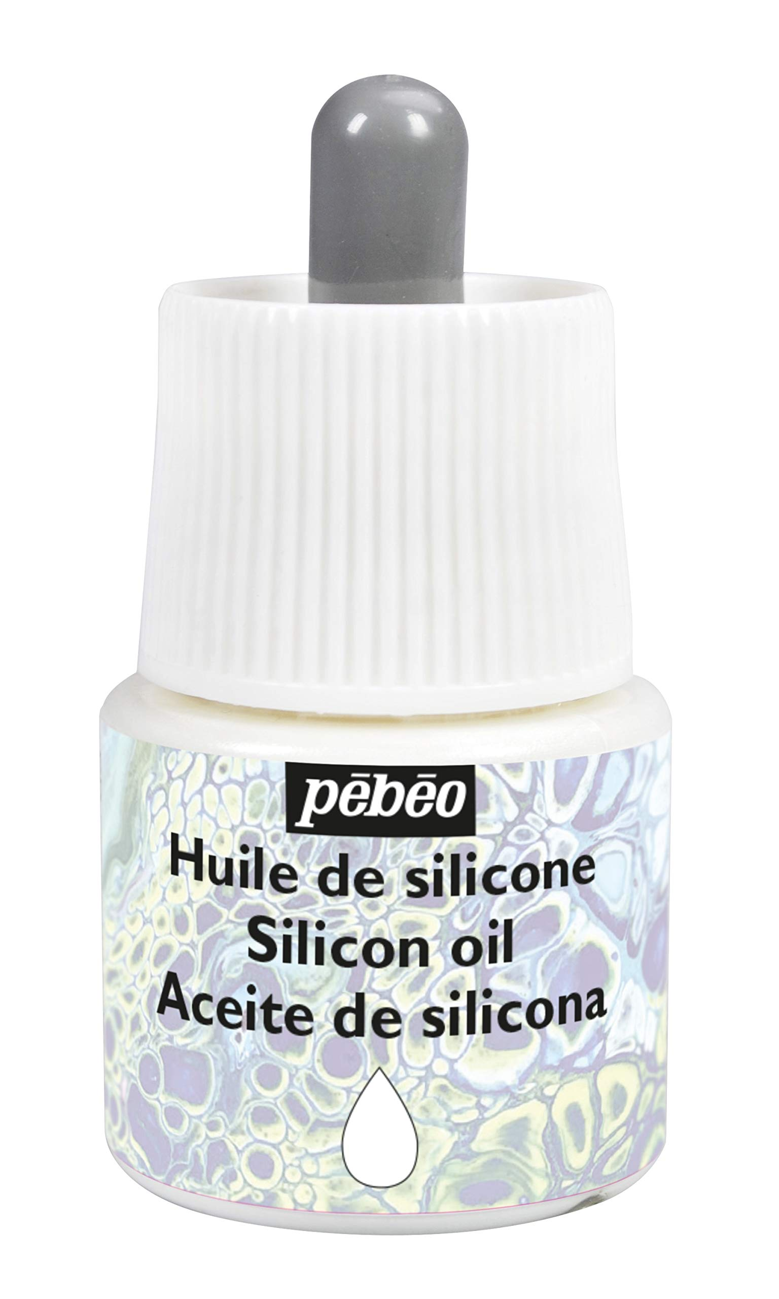 Pébéo Studio Acrylics-Oil Silicone-Auxiliary for Acrylic Painting-Pouring and Cell Making, 45 ml
