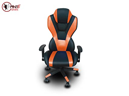 Magnificent Ant E Sports 8198 Pu And Pvc Metal Frame Gaming Chair With Adjustable Backrest Angle Orange And Black Caraccident5 Cool Chair Designs And Ideas Caraccident5Info