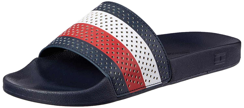 fdf7c65e1ac3e Tommy Hilfiger Hilfiger Pool Mens Slide Midnight Navy - 46 EU   Amazon.co.uk  Shoes   Bags